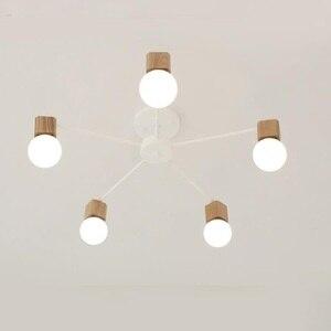 Image 3 - モダンレトロシャンデリアキッチン寝室の吊りアンティーク鉄シャンデリアアメリカンスタイルの錬鉄製のランプ近代的なledレトロ