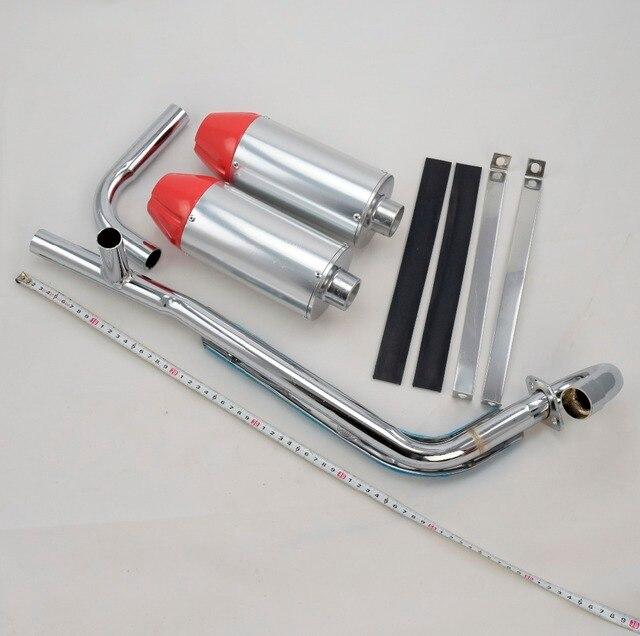 Apollo dual exhaust pipe bullet off-road motorcycle muffler dirt pit bike  50cc 70cc 90cc 110cc 125cc accessories 9b7251cbf0