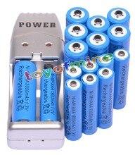 8 шт. AA 3000 мАч + 8 шт. AAA 1,2 в 1800 мАч NiMH синий аккумуляторная батарея + AA AAA USB зарядное устройство