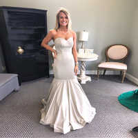 Sweetheart Mermaid Style Prom Dresses Floor Length Formal Evening Party Gowns Simple Long Trumpet vestido de formatura 2019