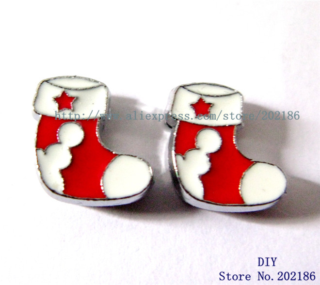 10pcs 8mm stocking christmas Slide Charms Fit Pet Collars Wristbands Belts key chain DIY ...