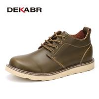 DEKABR Autumn Winter Men S Boots Waterproof Footwear Shoes British Fashion Popular Brand Quality Round Toe