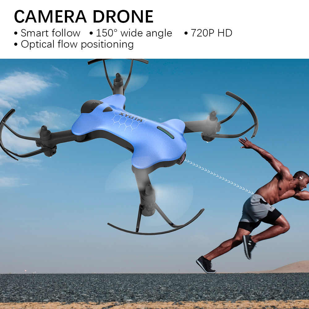 ATOYX Camera Drone HD Camera 4k Mini Drone With Wide Angle HD RC Quadcopter  FVP WIFI High 4CH Headless Altitude Hold Mode