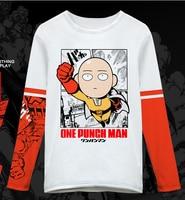 [XHTWCY] Japan Anime One Punch Man Saitama Oppai Cosplay Long Sleeve T shirt Casual Top ONE Oppai
