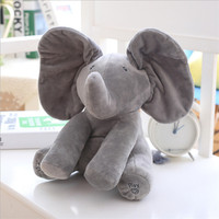 Abbyfrank Filled With PP Cotton Plush Toys Elephant Puppy Toy For Children Hide And Seek Interactive