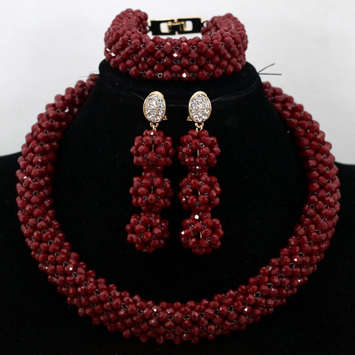 Bulk Jewellery Charms Charms Burgundy Wine African Costume Party Crystal Jewelry