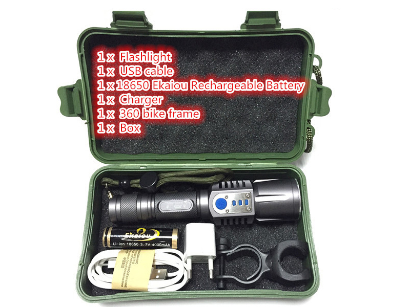 Rechargeable USB led flashlight cree xm l2 Lanterna High Power Torch 3800 lumen Zoomable Flash light lantern Tactical bike light cree xm l2 flashlight 5000lm adjustable zoomable led xm l2 flashlight lamp light torch lantern rechargeable 18650 2chargers z30