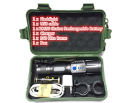 Rechargeable USB Led Flashlight Cree Xm L2 Lanterna High Power Torch 3800 Lumen Zoomable Flash Light