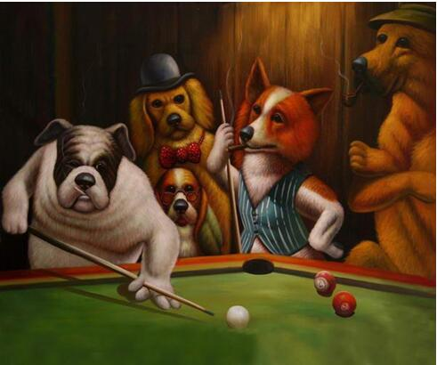 Pintado A Mano Decoracion Para El Hogar Pintura Al Oleo Animales
