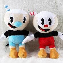 2pcs/lot 25cm Cuphead Mugman the Devil Legendary Chalice Plush Toys Cuphead Plush Soft Stuffed Toys Doll for Children Kids Gifts