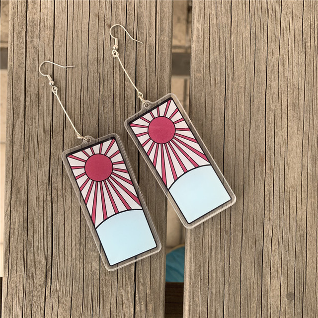 Demon Slayer Kamado Tanjirou Acrylic Earrings