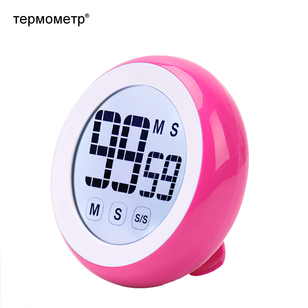 Gift Idea Touch Screen Digital Kitchen Cooking Timer Countdown Countup Magnetic LCD Timer Alarm Reminder Colorful