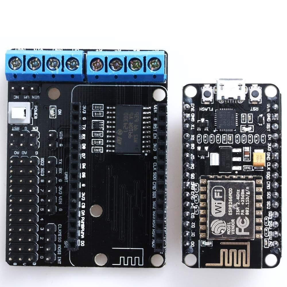 CP2102 ESP8266 /&L293D ESP-12E Wifi Motor Drive Development Board for NodeMcu