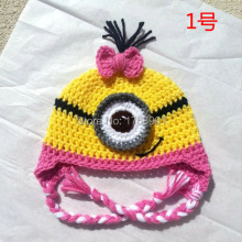 crochet minion hat,toddler costume,girls clothing,christmas gifts,baby shower gift,baby items,little girl gifts