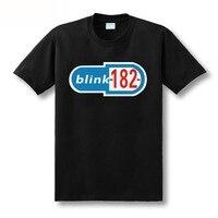 Blink 182 Letter Print 100 Cotton Custom Logo Personalized Men Short Sleeve Summer T Shirt Free