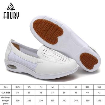 Women Doctor Nurse White Shoes Summer Soft Cushion Sandals Wedges Hollow Breathable Shoes Hospital Beauty Salon Comfy Work Shoes