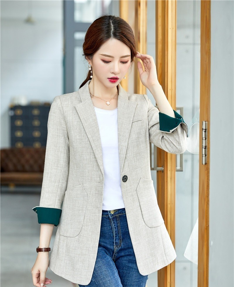 Formal OL Styles Women Business Blazers And Jackets Coat Middle Long Office Ladies Tops Blaser Autumn Winter Clothes