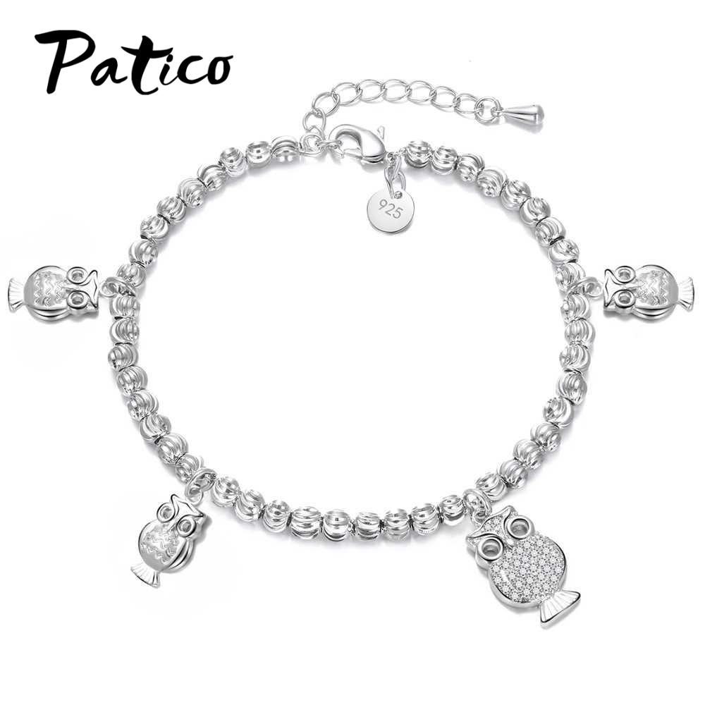 Diy 316l Stainless Steel Anklet Chain With Small Butterfly Charms Kalung Wanita Simpel 015 Patico New Arrival 100 S90 Silver Animal Owl Design Charm Bracelets Clear Crystal Cz