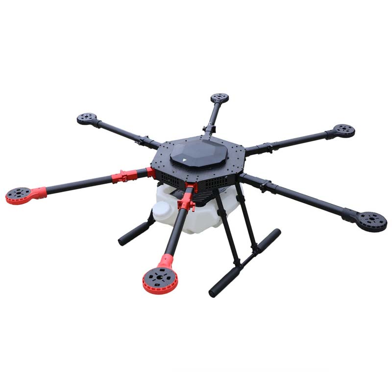6-axis Spray pump Agriculture drone w/ 10KG/10L spraying gimbal system 1400mm Wheelbase Folding UAV Hexacopter