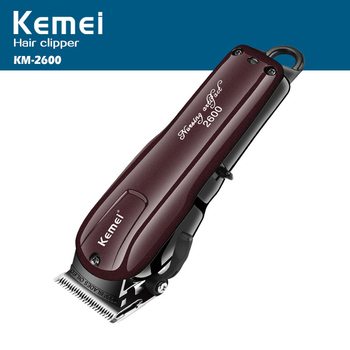 Cortadora de pelo eléctrica lavable de 220 V-110 V, maquinilla de afeitar recargable para hombre bebé km-2600 recortadora de barba sin cable máquina
