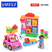 UMEILE Friends Brick Set Pink City Girl Princess Family House Kids Toys Building Block Compatible with  Duplo Gift