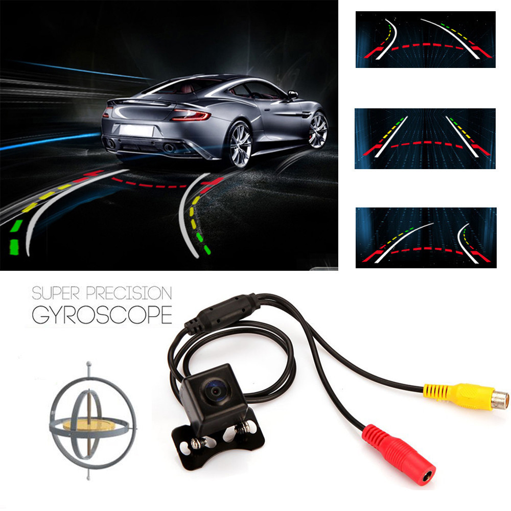 Easy View Steering Dynamic Guided Parking Line Markings Car Vehicle Rear View Camera Back Len 135 Wide-angle Lens Waterproof