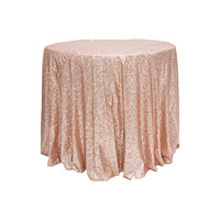 1pcs /Pack 72 Blush Champagne Sequined Tablecloth Wedding TableCloth Decoration/Fabric for Event Reception Cake Table