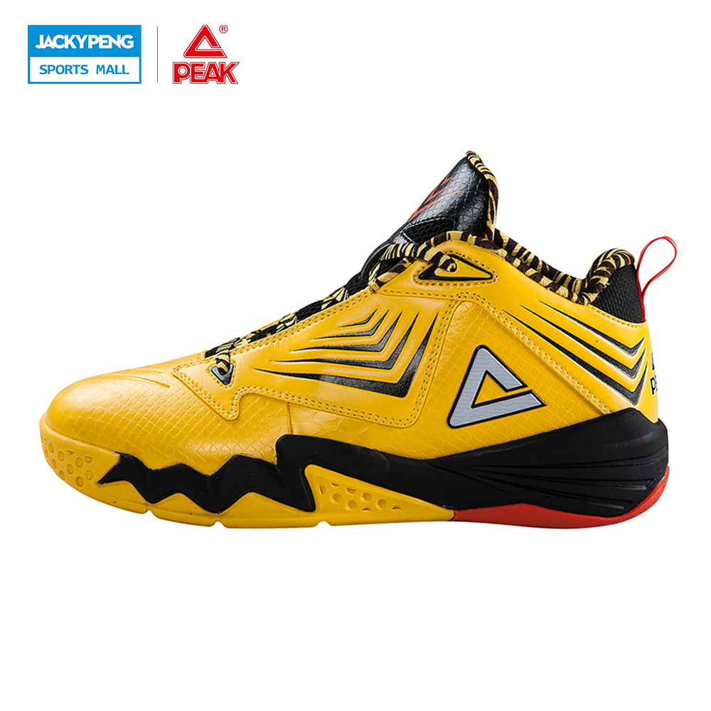 PEAK SPORT Monster II-III All-Star Authent Men Basketball Shoes Damping Wear FOOTHOLD Tech Breathable Athletic Sneakers Boots peak sport star series george hill gh3 men basketball shoes athletic cushion 3 non marking tech sneakers eur 40 50