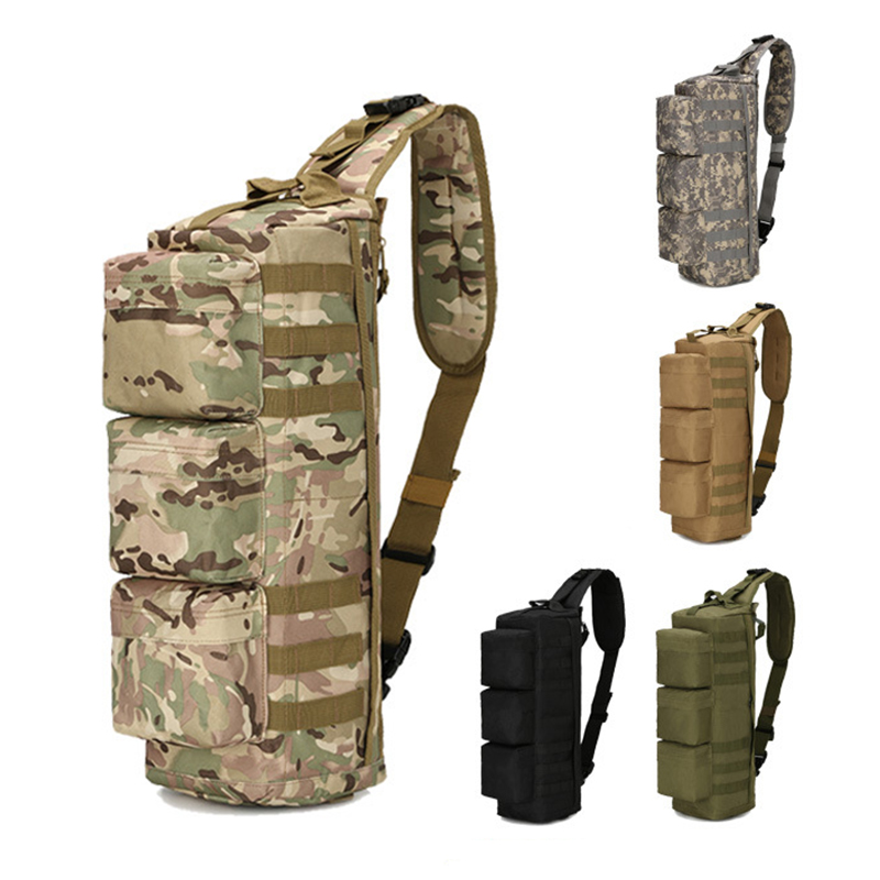 Sports & Entertainment Climbing Bags Outdoor Tactical Bag Molle Sports Single Shoulder Cross Body Chest Pack Hiking Camping Hunting Army Military Airborne Bags Men Agreeable To Taste