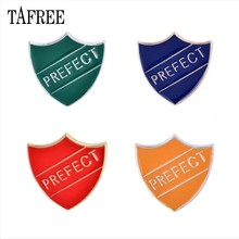 Tafree Warna-warni Prefek Huruf Perisai Kerah Pin Enamel Pak Bros Merah Hijau Biru Orange Lencana Fashion Perhiasan(China)