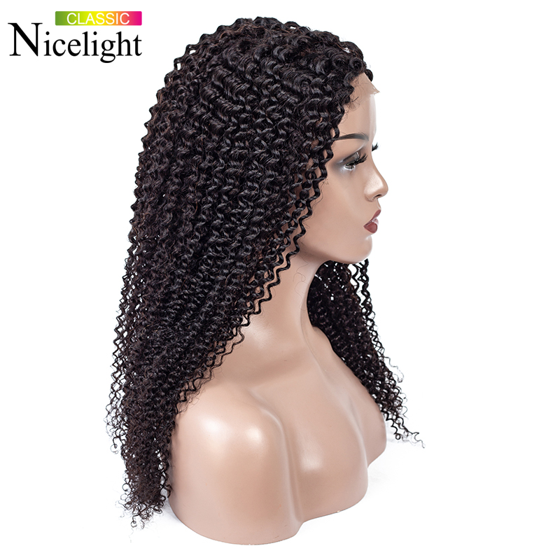 Kinky Curly Wig Closure Wig 4X4 Lace Wig Short Human Hair Wigs Lacewig Remy Hair Nicelight Malaysian Curly Wigs For Black Women