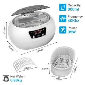 Image 2 - SKYMEN 0.6L nettoyeur à ultrasons bain lavage réservoir bijoux montre anneau lunettes pièces argent pièces