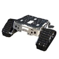 Liga de Alumínio De metal Inteligente Kits RC Rastreado Chassis Tanque Robô Carro Inteligente de Alta Qualidade RC Brinquedos para As Crianças Bons Modelos
