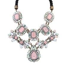 Подарок SPX4637 Настоящее Модный Завод Новый Эксклюзивная Модная Марка Цветок Choker Чешские Ожерелья Коренастый Себе Ювелирные Изделия для Женщин