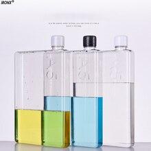 IRONX 1 UNID 420 ml Botellas Creativo A5 Papel libro De Papel Plana De Plástico Hervidor de Agua Botella De Plástico botellas de Color de Alta Calidad