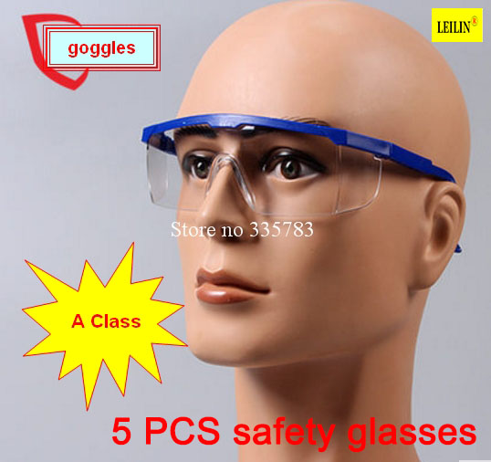 все цены на 5pcs Impact resistance glasses Work safety glasses Transparent protective glasses wind and dust goggles anti-fog medical