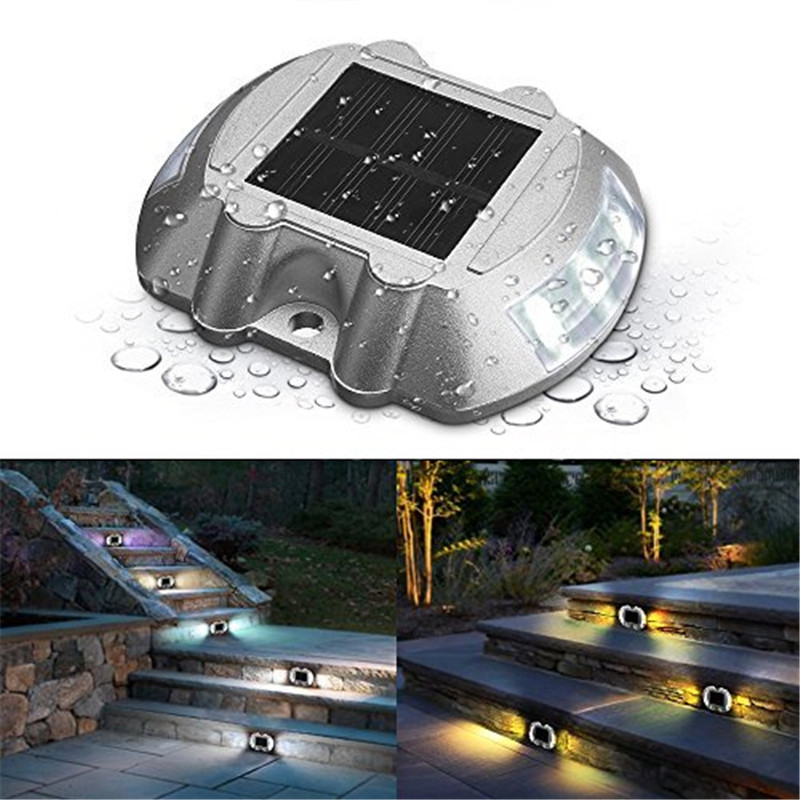 LumiParty Solar Deck Light LED Solar Dock Path Road Lights Marker lighting Waterproof Security Lamps for Outdoor Stairs Ligthing