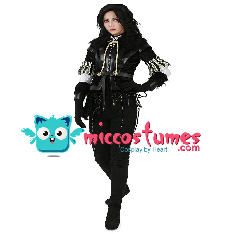 Yennefer Cosplay Costume Woman Halloween Outfit