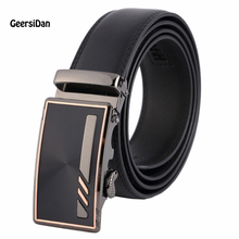 2017 men's fashion 100% Genuine Leather belts for men High quality metal automatic buckle Strap male Jeans cowboy JPH-26
