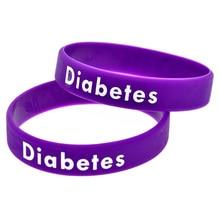 OBD 個デボスと色糖尿病で充填シリコーンブレスレット 50