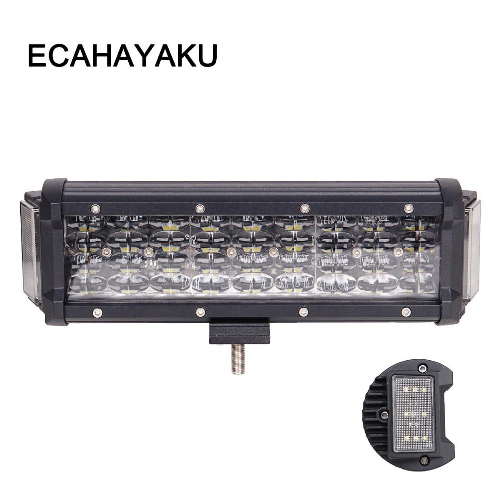 "4Pcs 5/"" LED Side Shooter Quad Row Work Light Bar  Spot Flood 6000K For JEEP SUV"