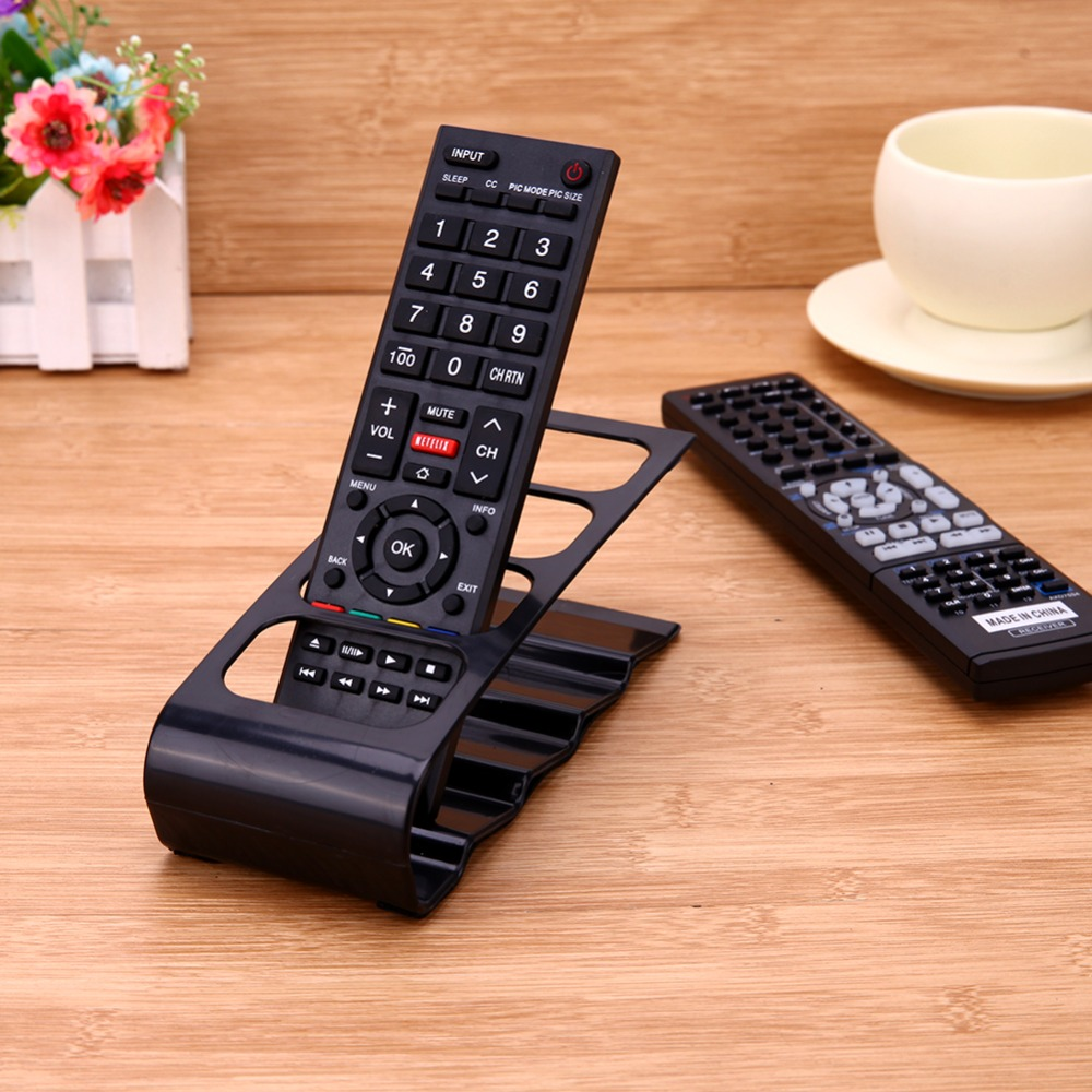 4 Cell Remote Control Storage TV/DVD/VCR Organizer Desktop Bracket Home Office Organizer Case Mobile Phone Holder Stand School