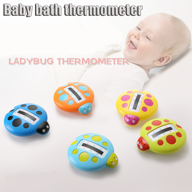 Neonatal Thermometers Fashion Cute Ladybird Image Baby Bath Thermometer Bathtubs Shower Testing Water Temperature Tester Toy