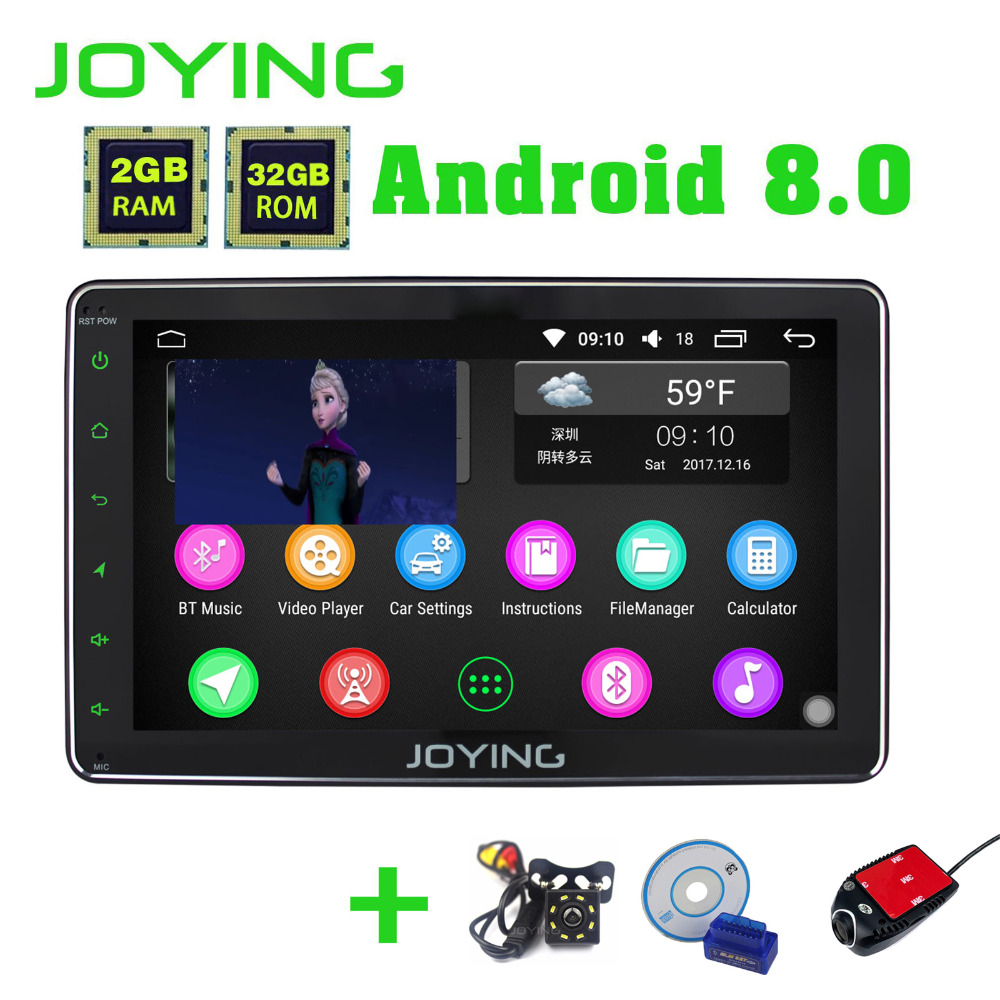 JOYING 8 Core 8 Android 8.0 2 gb + 32 gb Voiture Radio 2 din Stéréo carplay pour Toyota RAV4/Corolla/Hilux avec DVR Cam Arrière Caméra OBD2