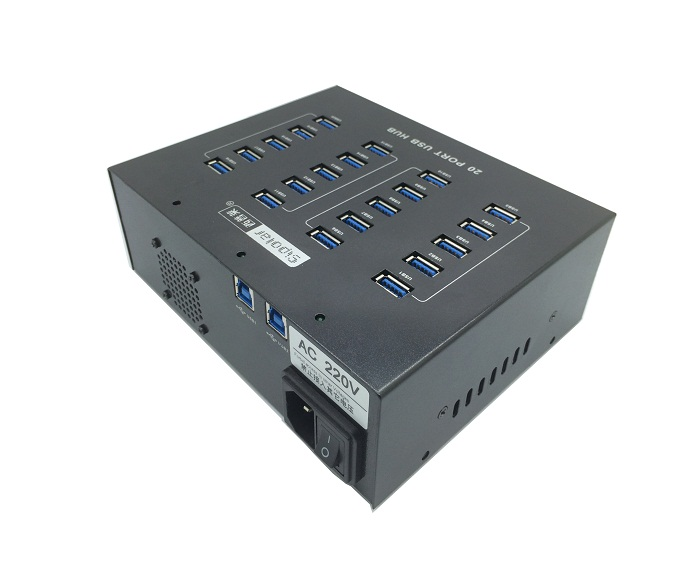 20 Port Metal Industrial SuperSpeed USB 3.0 hub