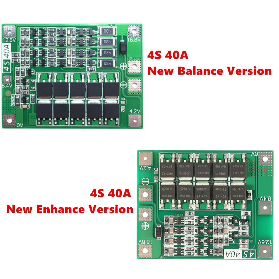 Balanced/Enhanced 4S 16.8V 40A 18650 Charger PCB BMS Protection Board Li-ion Lithium Battery Charger Lipo Cell Module