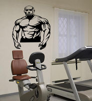 Body builder gym inflated body man Stylish Wall Art Sticker Decal