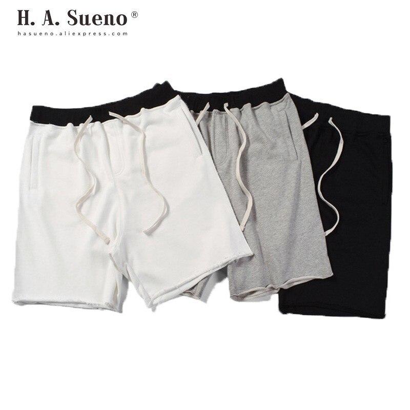H. A. Sueno high street ample fit hommes shorts hip hop solide hommes sweat pantalon court surdimensionné Cross-pantalon pour hommes livraison directe/5