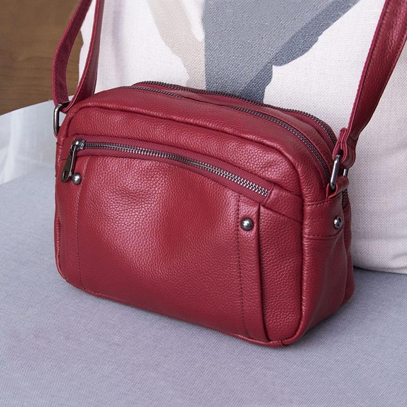 Genuine Leather Women Shoulder Bag Fashion Small Crossbody Bags for women Luxury Handbags and Purse Female