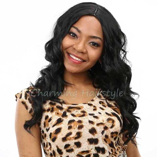 """Natural Cheap Hair Wig Ombre Wig Drag Queen Hair Style Synthetic Wigs for Black Women 26"""" long Curly Heat Resistant Hair"""